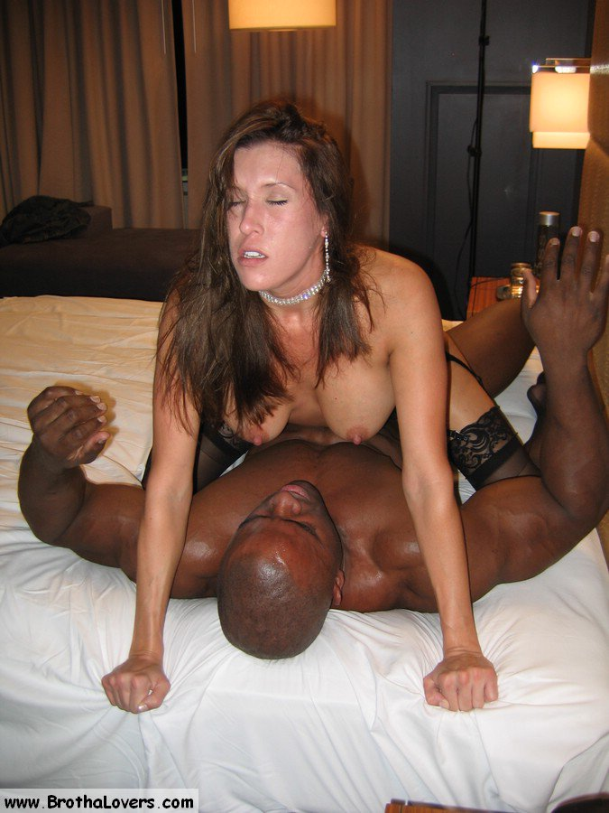 Brunette milf interracial and cumshot