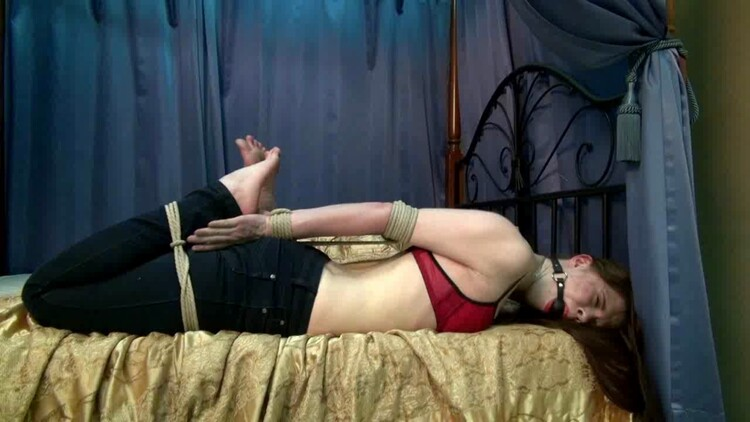 A blond slave girl bound and gagged