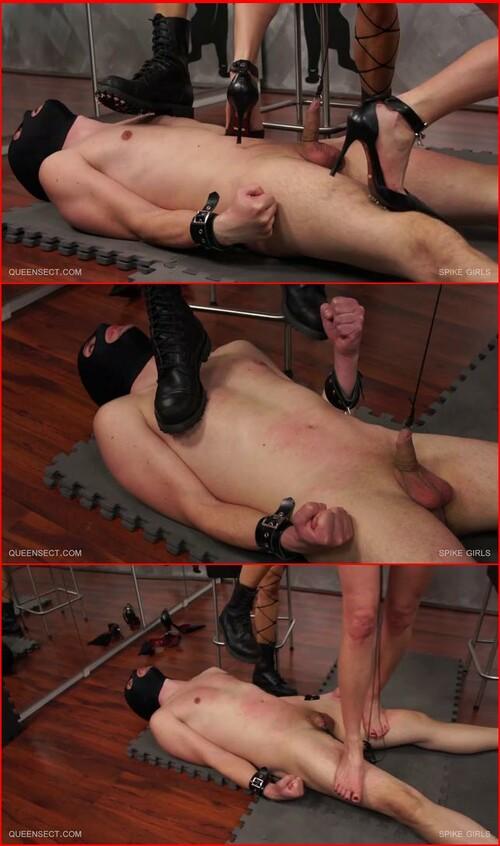 Brutal torture of topless