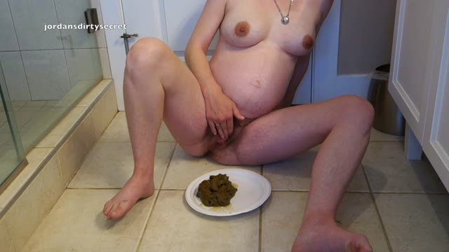 jordansdirtysecret - Huge Frontal Pregnant Shit and Orgasm