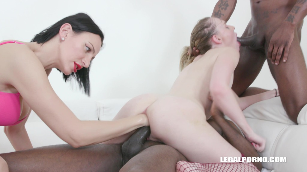 LegalPorno - Interracial Vision - Rebel Rhyder gets fisted and fucked by black bulls IV474