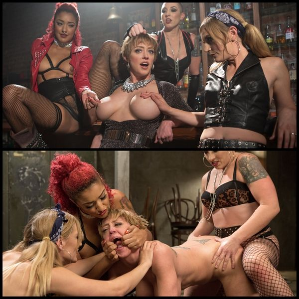 All Girl Gangbang at the Dyke Bar (2020/HD/1.49 GB)