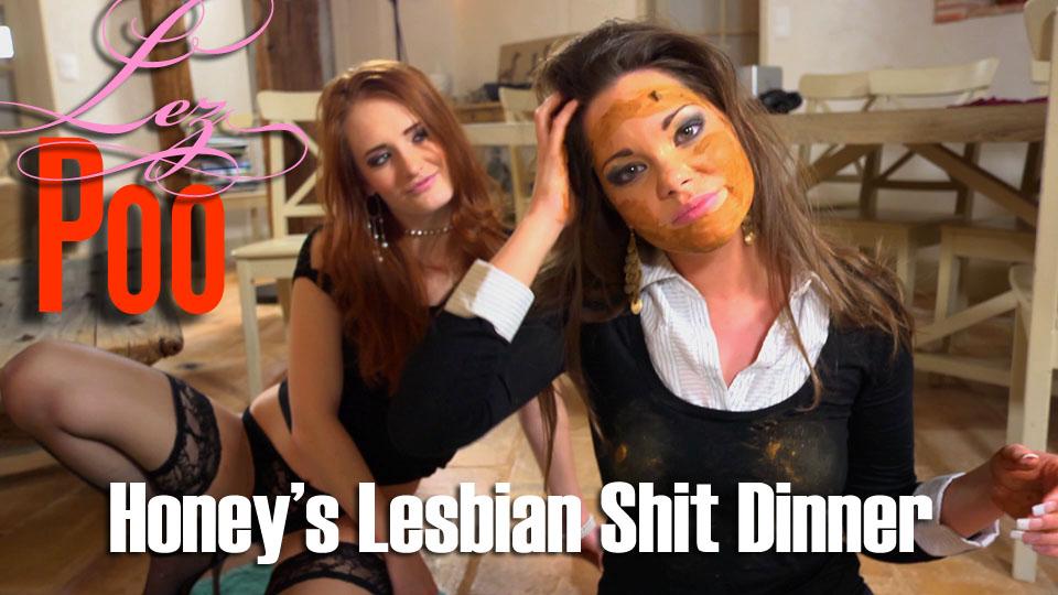 LezPoo - Denisa Heaven and Honey - Honey's Lesbian Shit Dinner