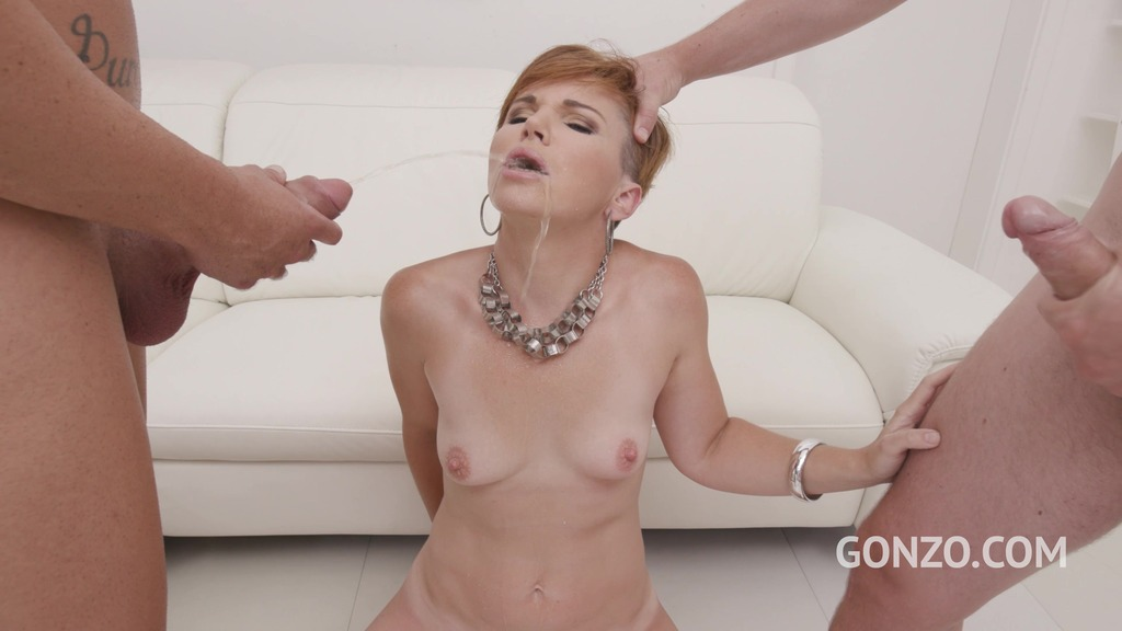 LegalPorno - Gonzo_com - Hot MILF Isalyn welcome to Gonzo with first DAP, DP and Pee SZ2485