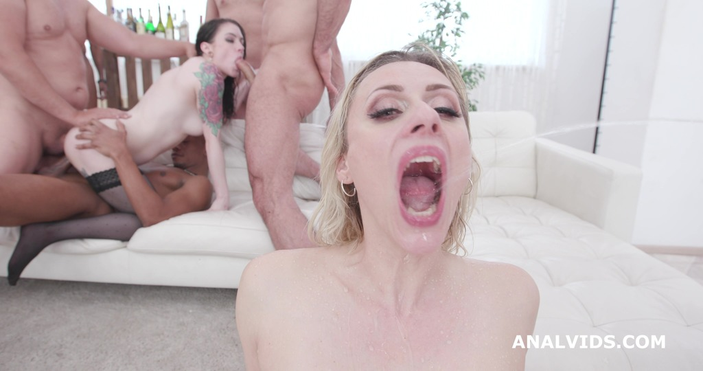 LegalPorno - Giorgio Grandi - Two of a Kind #2 Anna de Ville & Brittany Bardot Orgy with Pee Drink, Squirt, Balls Deep Anal, DAP, Anal Fisting GIO1442