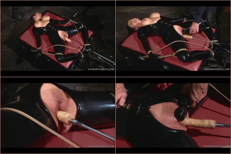 Tied Up Couple Gag Kissing