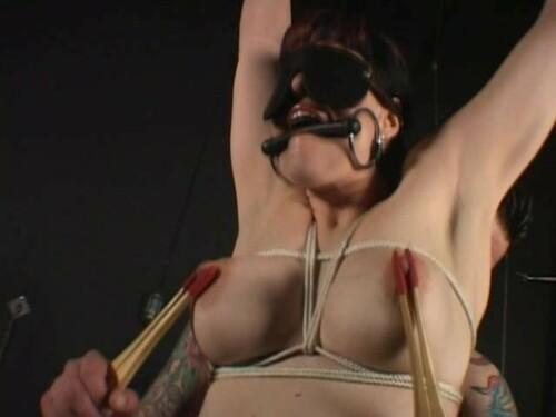 Busty bondage slave