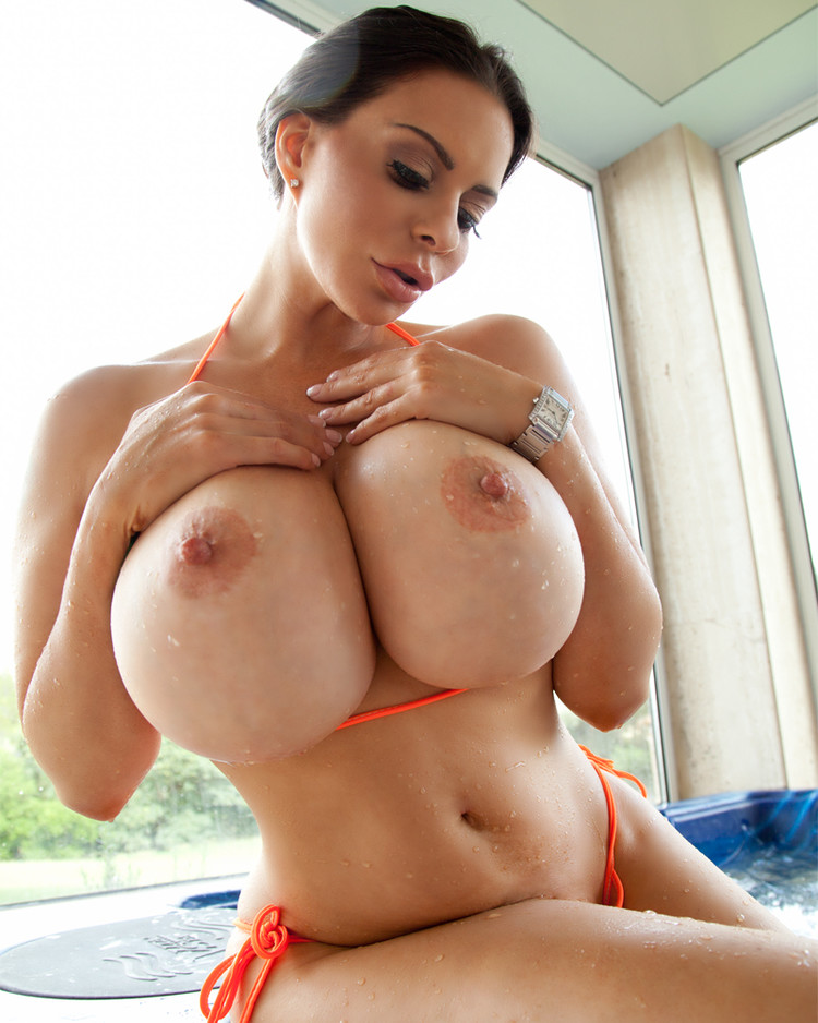 Perfectly Round Young Natural Big Tits