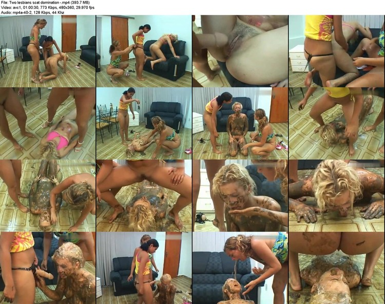 two Lesbians Scat Domination - (393.7 Mb, Avc1, 360p)