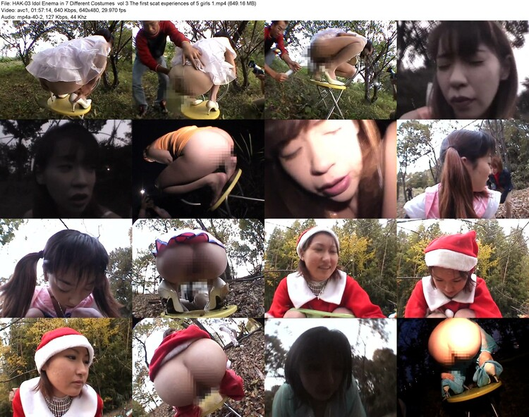 hak-03 Idol Enema In 7 Different Costumes  Vol 3 The First Scat Experiences Of 5 Girls 1 (649.16 Mb, Avc1, 640x480)